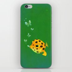 Yellow boxfish iPhone & iPod Skin