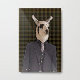 Lord Llama Metal Print