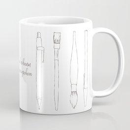 A pencil and a dream... white! Coffee Mug
