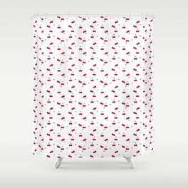 Cherries Love Pattern Shower Curtain