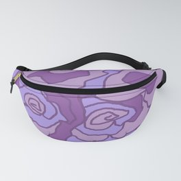 Lavender Dreams Roses - Mixed with Dark Outline Fanny Pack