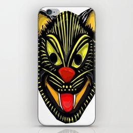 Retro Halloween Mask Cat iPhone Skin
