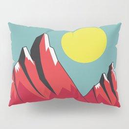 Abstract Landscape - Snow Peak Mountains Pillow Sham