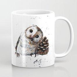 Owl + Pine Cone Coffee Mug