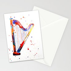 Harp Stationery Cards