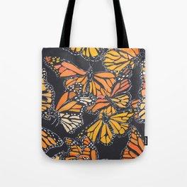 Monarch Print Tote Bag