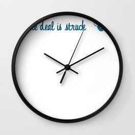 Rumbelle- The deal is struck Wall Clock