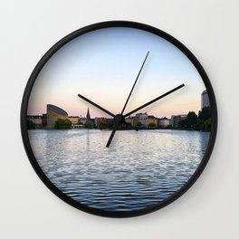 The Lakes Evening Wall Clock