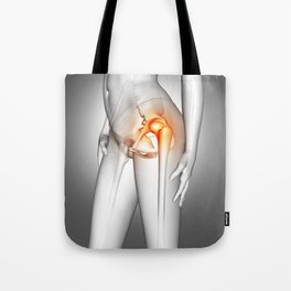 3D female medical figure with hip bone highlighted Tote Bag