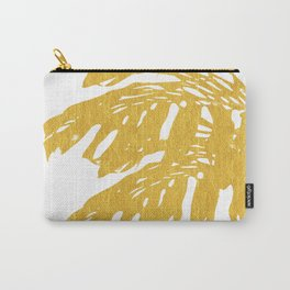 Gold Tropical Leaves I Carry-All Pouch
