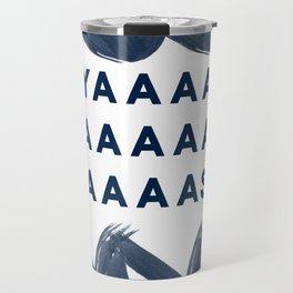 Yas Digital Design-Navy | Excitement | Typography Travel Mug