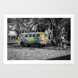 Truck of love, Argentina, Buenos aires Art Print