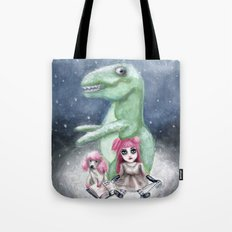 Kimmy and Rex Tote Bag