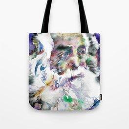WALT WHITMAN - watercolor portrait .2 Tote Bag