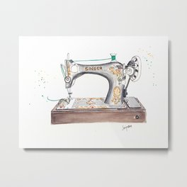 Vintage Singer Sewing Machine  Metal Print