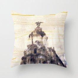 Metropolis building, Madrid Throw Pillow