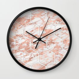 Rose gold beehive II Wall Clock