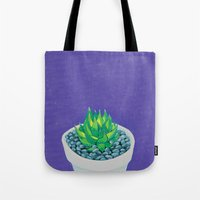 succulent Tote Bags featuring Succulent by marlene holdsworth