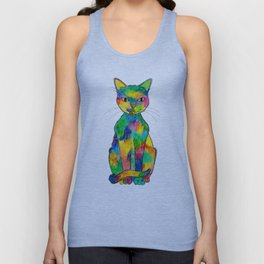 Rainbow Cat Unisex Tank Top