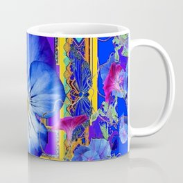 DECORATIVE BLUE PANSY & VINING  MORNING GLORIES Coffee Mug