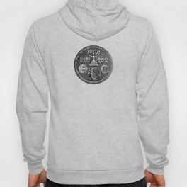 Trump Israel 70th Anniversary Temple Coin Art (Front Side) Hoody