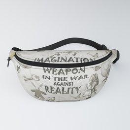 Imagination - Vintage Black & White - Alice In Wonderland Fanny Pack