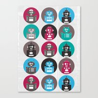 robots Canvas Prints featuring Robots by Kakel