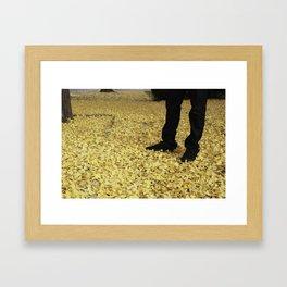 Gingko Snow Framed Art Print