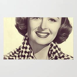 Donna Reed, Vintage Actress Rug