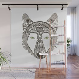 Whimsical Wolf Wall Mural