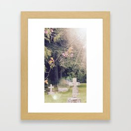 Cemetery, St. John's Anglican Church, Cobble Hill B.C. Framed Art Print