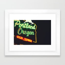 Portland! Framed Art Print