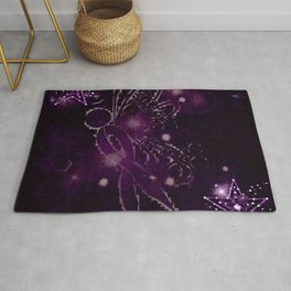Power Purple For a Cure - Shooting Star Rug