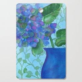 Cobalt Hydrangea Cutting Board