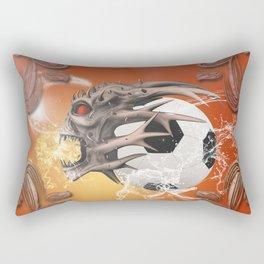 Skull with soccer Rectangular Pillow