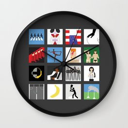 Music album collection Wall Clock