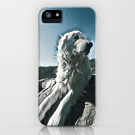 Maremma glamour shot iPhone Case