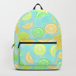 Citrus Jumble (Aqua) Backpack