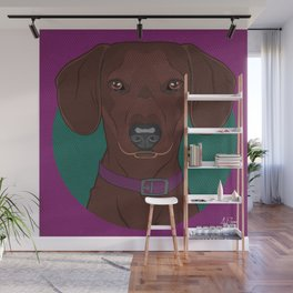 Icons of the Dog Park: Dachshund Design in Bold Colors for Pet Lovers Art Print Wall Mural