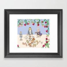 alice in wanderland -afternoontea Framed Art Print
