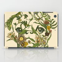 botanical iPad Cases featuring Botanical Pug by Huebucket