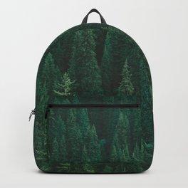 deep woods. Backpack