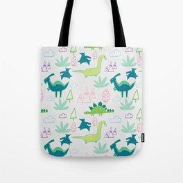 Dino Fun land Grey Tote Bag