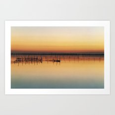 Sunset in Venice Lagoon Art Print