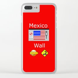 Mexico Wall Clear iPhone Case