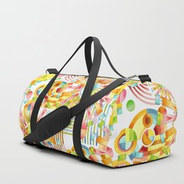 Art Deco Pastel Fireworks Duffle Bag