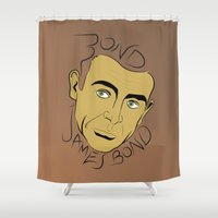 james bond Shower Curtains featuring Bond, James Bond by FSDisseny