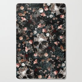 Skull and Floral pattern Cutting Board