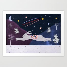 Par une nuit étoilée en Alaska Art Print