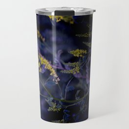 purple and yellow Travel Mug
